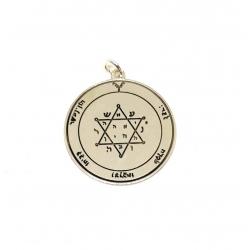 Colgante medalla estrella de Júpiter 30 mm plata de ley 925