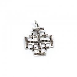 Colgante Cruz de Jerusalén plata ley 925
