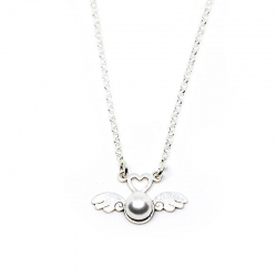 Collar alas de ángel con perla