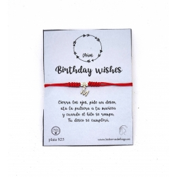 Pulsera Birthday Wishes Inicial color rojo