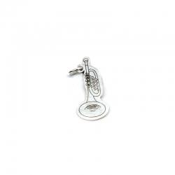 Colgante trompeta 23 mm plata 925