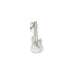 Colgante guitarra electrica 24 mm plata 925