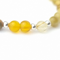 Pulsera elástica minerales amarillos 6mm arcángel Jofiel,creatividad.