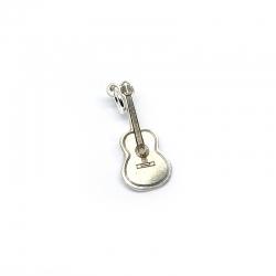 Colgante guitarra española 23 mm plata