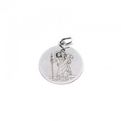 Medalla san Cristobal 18 mm de plata de ley 925