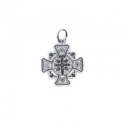 Colgante cruz de San Benito 20 mm en plata de ley 925