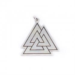 Colgante triangulos 30 mm plata de ley