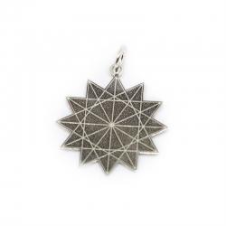 Estrella de 12 puntas 24 mm en plata de ley 925