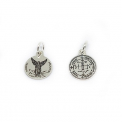 Medalla Arcágel San Gabriel 12 mm plata de ley