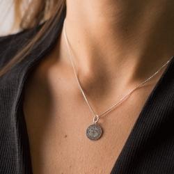 Medalla Arcángel San Miguel 12 mm plata de ley 925
