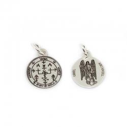 Colgante medalla Arcangel San Uriel 18 mm plata de ley 925