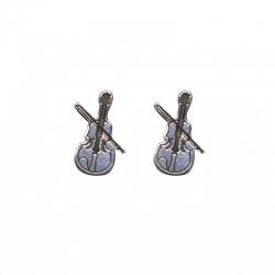 Pendientes violín 12 mm plata de ley 925