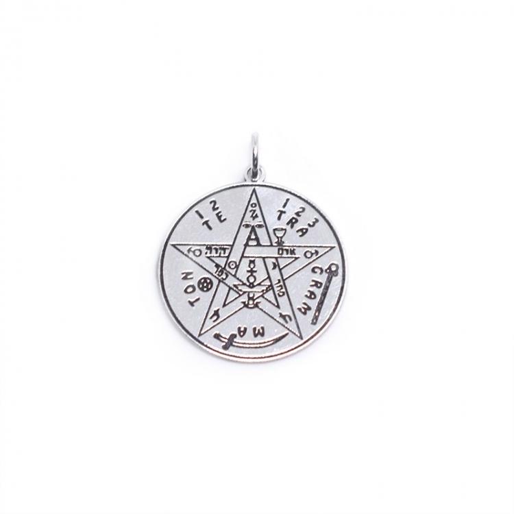 Colgante tetragramatón 18 mm plata de ley 925