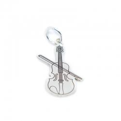 Colgante violín 23 mm plata 925