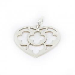 Colgante corazón Giulietta 19 x 21 mm en plata de ley 925